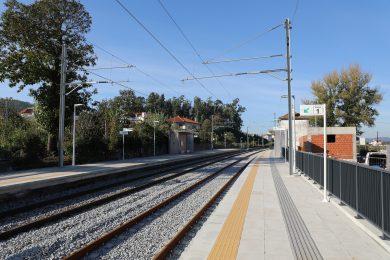 Viagem inaugural da entrada ao serviço da circulação elétrica entre Nine e Viana do Castelo